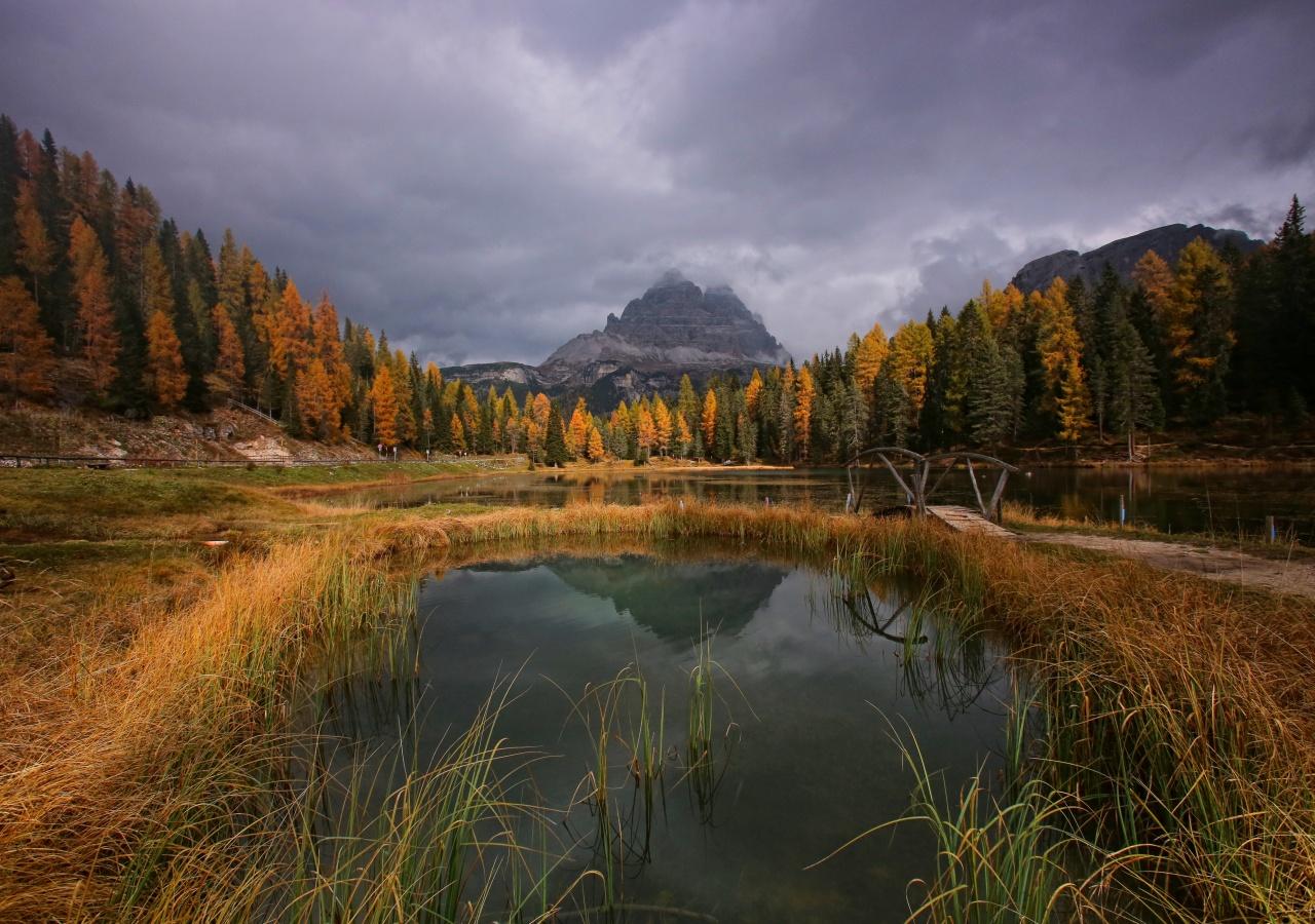 lago Antorno in Autunno